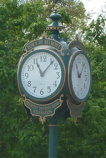 Belmont Center clock